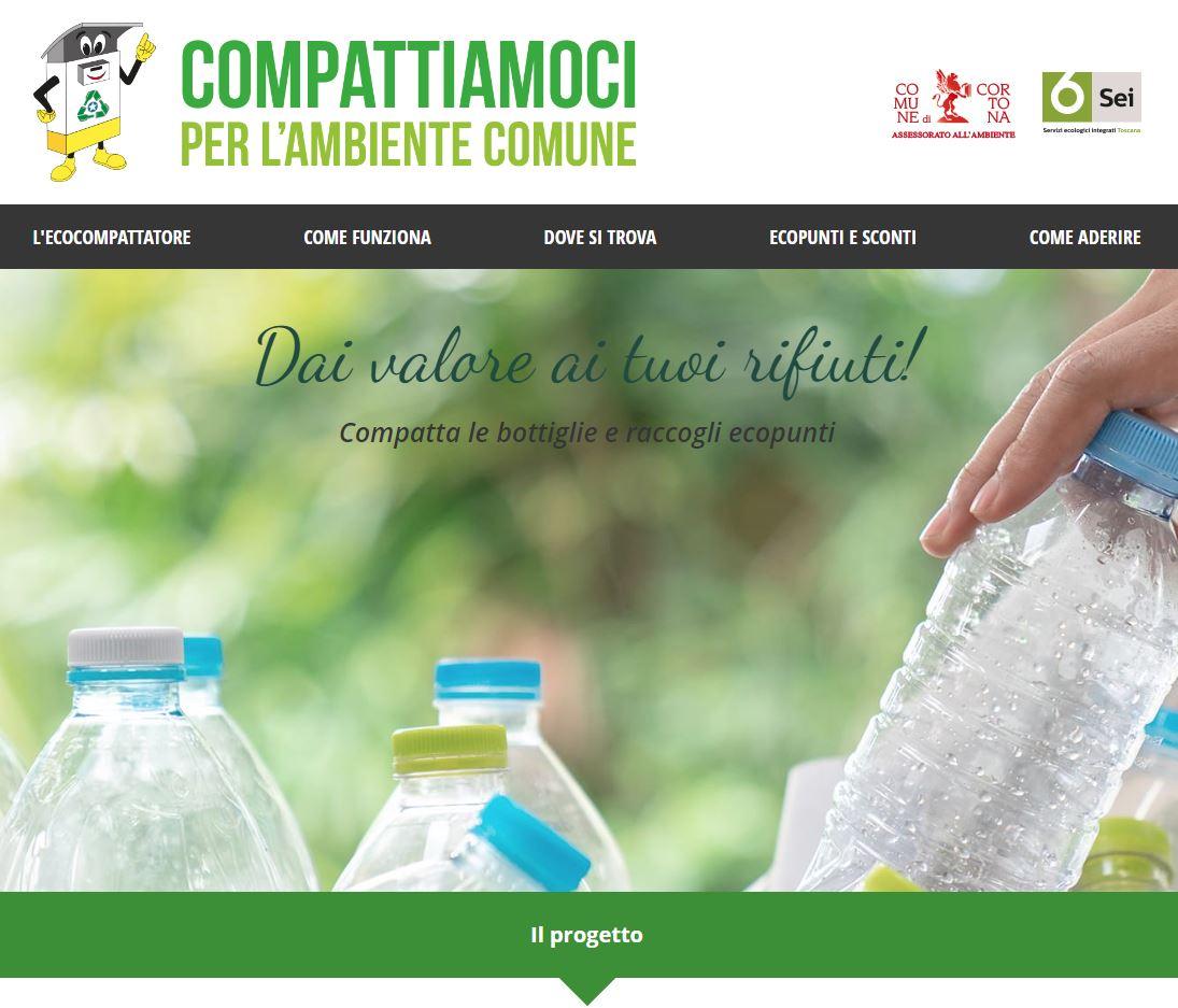 Eco-compattatori per comuni: riciclo incentivante e isole ecologiche con riconoscimento e calcolo eco-punti