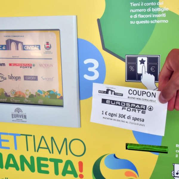 Eco compattatore Eurven per comuni: riciclo incentivante